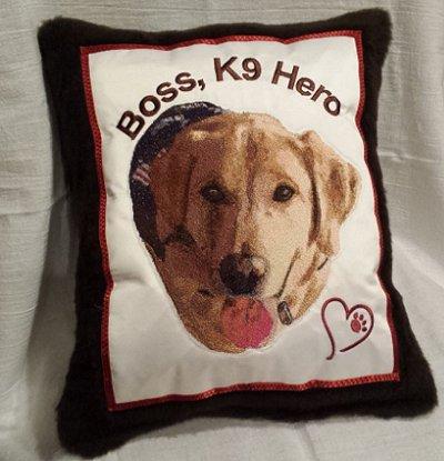 K9 Hero Pillow Project
